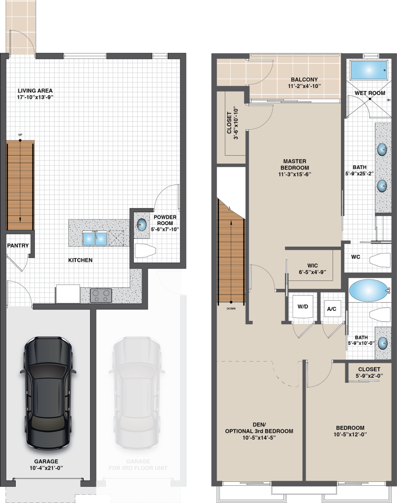Floorplan for Model B – West