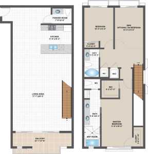 Floorplan for MODEL C – EAST