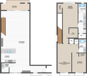Floorplan for Model D – West