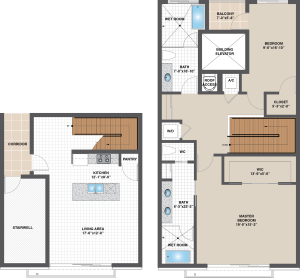 Floorplan for Model E – East