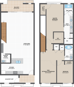 Floorplan for Model E – West